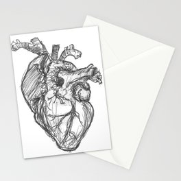 Anatomical Heart Ink Sketch Stationery Cards