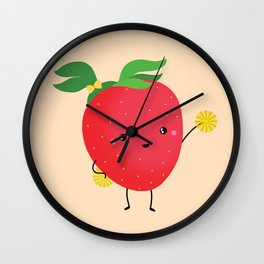Strawberry cheers Wall Clock