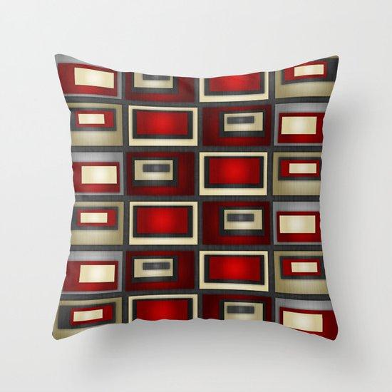 Dark Romance Geometric Throw Pillow