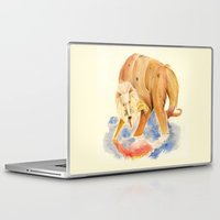 inner demons Laptop & iPad Skins featuring Reflecting on my inner demons by Squibler