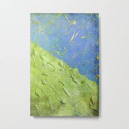 Peridot Rain Metal Print