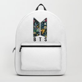 Flowers BTS Logo Backpack
