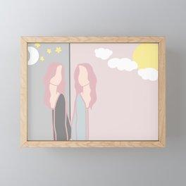 I Am My Only Friend Framed Mini Art Print