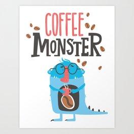Caffee Monster Art Print
