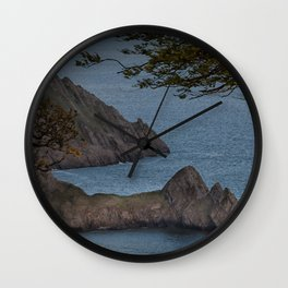 High tide at Three Cliffs Bay Swansea Wall Clock