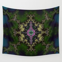 hexagon Wall Tapestries featuring Fractal Hexagon by Warwick Wonder Works