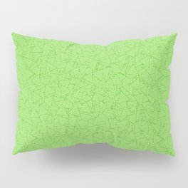 Green Triangles Concentric Polygons Pillow Sham