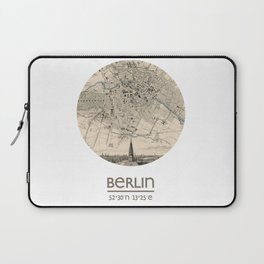 BERLIN GERMANY - city poster - city map poster print Laptop Sleeve