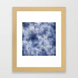 Navy Watercolor Fog Framed Art Print