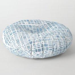 Philadelphia City Map Floor Pillow