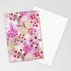 bright floral pattern ,watercolor background. Stationery Cards