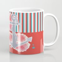 sailor Mugs featuring sailor by Sara Eshak