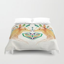foxes in love Duvet Cover