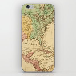 Vintage map of North America iPhone Skin
