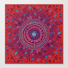 Red and Blue Mandala  Canvas Print