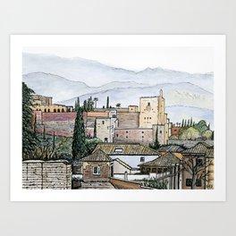 The Alhambra, Granada Art Print