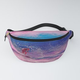 Pink Surfing Waves Fanny Pack