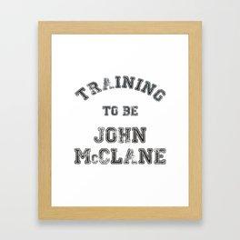 Training to be John McClane Framed Art Print