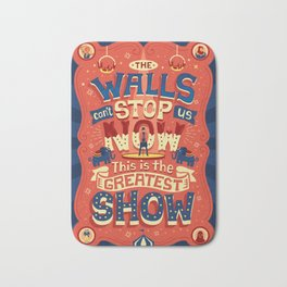 The Greatest Show Bath Mat