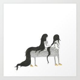 My Conjoined Centaur Sister Art Print