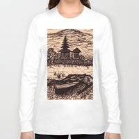 bali Long Sleeve T-shirts featuring Bali Boating by Erica Putis
