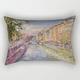 Painting Oil Realism Canvas Art Impressionism Landscape Painting Modern Office Decor Art Collection Rectangular Pillow