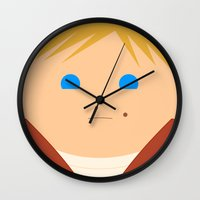 harry Wall Clocks featuring Harry by luamado