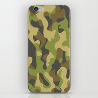 military iPhone & iPod Skins featuring Military Pattern by Crazy Thoom