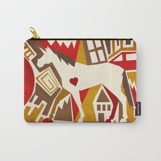 Abstract Pattern Unicorn Carry-All Pouch