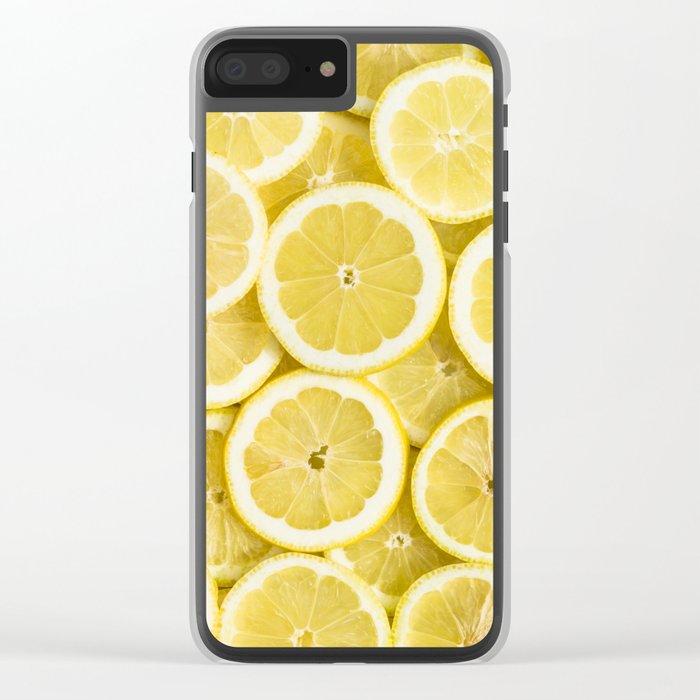 Lemon pattern #society6 #decor #buyart Clear iPhone Case