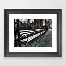 Long Bench Framed Art Print
