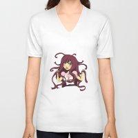dangan ronpa V-neck T-shirts featuring Dangan ronpa by reeree22