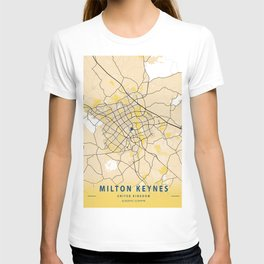 Milton Keynes Yellow City Map T-shirt