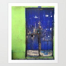 Doors of Tlacotalpan: Green Walls Art Print