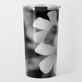 Floral black and white Travel Mug