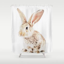 Wild Bunny Watercolor Shower Curtain