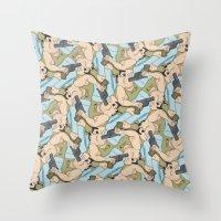 darwin Throw Pillows featuring Darwin Award Nominee tessellation by Feene
