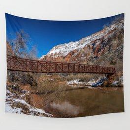 Virgin_River Foot_Bridge - Zion Court Wall Tapestry