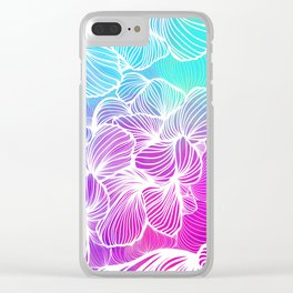 Tropical Cold Front Clear iPhone Case