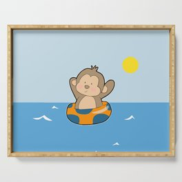 Summer Monkey Serving Tray