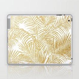 Elegant faux gold glitter tropical plants pattern  Laptop & iPad Skin