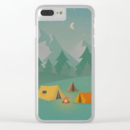 Mountain Camp Clear iPhone Case