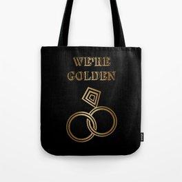 Golden Wedding Anniversary Tote Bag