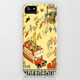 Vintage poster - London Underground iPhone Case