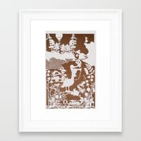 pocahontas Framed Art Prints featuring pocahontas by Melissa F. Lund