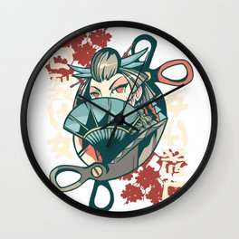 kuchisake-onna japanese woman  Wall Clock