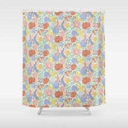 Bird Floral Shower Curtain