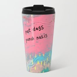 Pet Dogs Punch Nazis Travel Mug