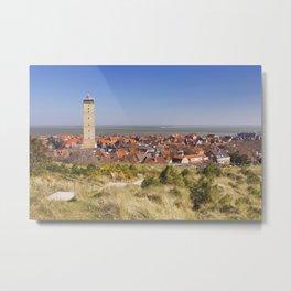West-Terschelling and Brandaris lighthouse on Terschelling island, The Netherlands Metal Print