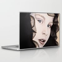 ying yang Laptop & iPad Skins featuring Ying Yang by Claire Azzopardi